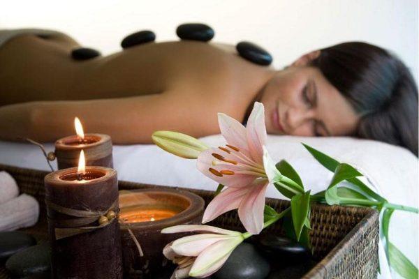 масажа топли камења спа